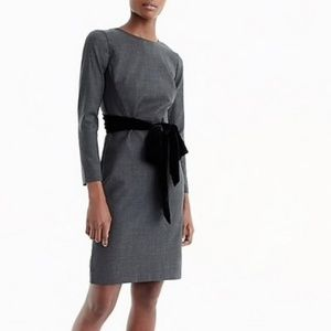 J. Crew Day to Night Wool Silk Sash Career Dress